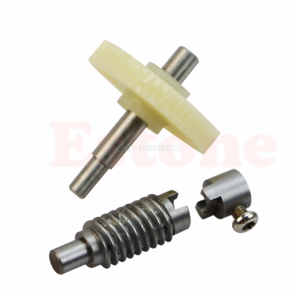 1pc plastic Metal Worm Wheel Gear Reducer Gear Reduction set for DIY Accessories ...