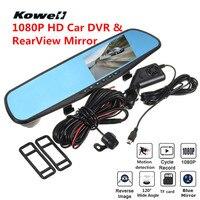 Universal 120 Degree 1080P HD Car DVR Rear View Mirror Kit Wide Vision Interior Mirrors Inside