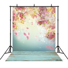 Flower Wallpaper Photography Background Wooden Floor Backdrop For Photo Shoot Props Children Baby Cloth Backdrops Photo Studio