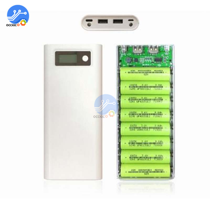 Image 3 - 8x18650 Battery Charger Box Power Bank Holder Case Dual USB LCD Digital Display 8*18650 Battery Shell Storage Organize DIY-in Battery Storage Boxes from Consumer Electronics