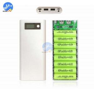 Image 3 - 8x18650 Caixa de Banco Do Poder Carregador de Bateria Caso o Titular Dupla USB LCD Display Digital 8*18650 Bateria Casca organizar caixa de armazenamento DIY