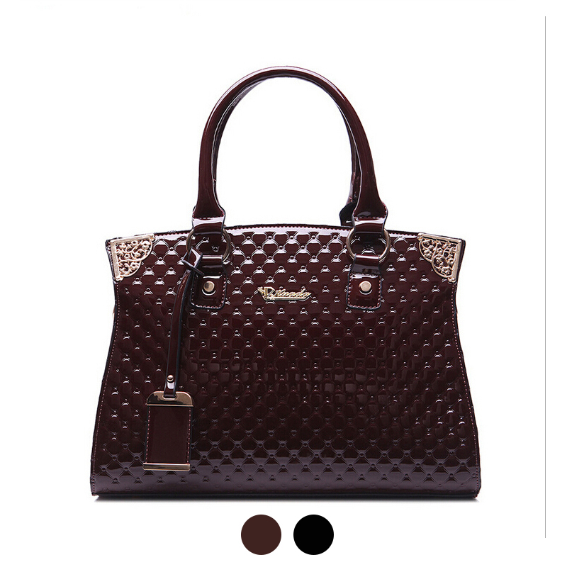 Online Get Cheap Large Black Patent Handbags -Aliexpress.com ...