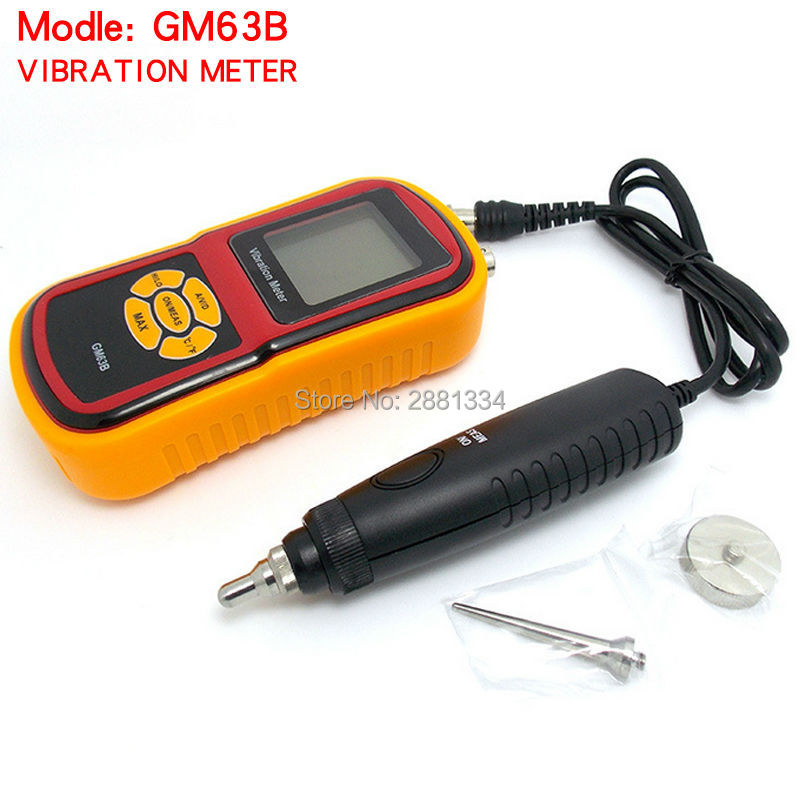 GM63B High Pression Ultrasonic Vibrometer Portable Digital LCD Vibration Meter Analyzer without Retail box portable electronic vibration meter 0 1 199 9m s ac output digital vibration frequency analyzer tester lcd backlit vibrometer