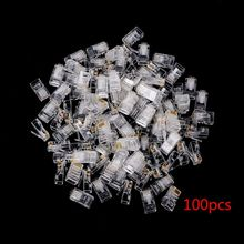 Gold plated RJ45 Net Network Modular Plug Cat5 CAT5e Connector 8P8C utp Unshielded Modular Rj45 Plug NEW 25/100/ 200/500 PCS