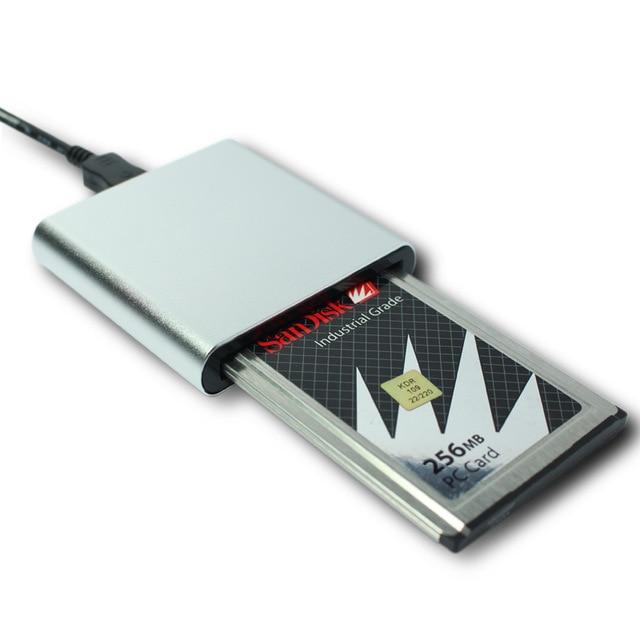 ¡Caliente! ATA lector de tarjeta PCMCIA de memoria tarjeta Flash Tarjeta de tarjeta de disco lector 68PIN CardBus a USB convertidor
