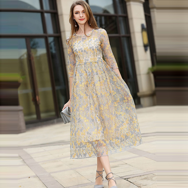 half sleeve bohemian sheer beach dress tunic 2017 spring