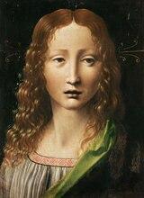 Head Of The Saviour by Leonardo Da Vinci Handpainted