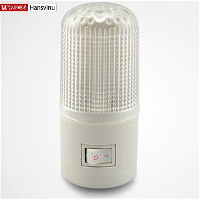 Really Bright And Power Save 4 LED Wall Mounting Bedroom Night Lamp Light  US Plug Lighting