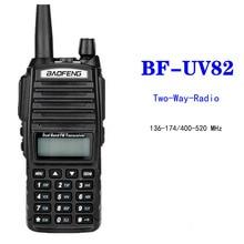 Baofeng UV-82 Walkie Talkie Dual Band VHF UHF 136-174 400-520MHZ 8W Long Range Two Way Radio Waterproof CB Radio FM Transceiver стоимость