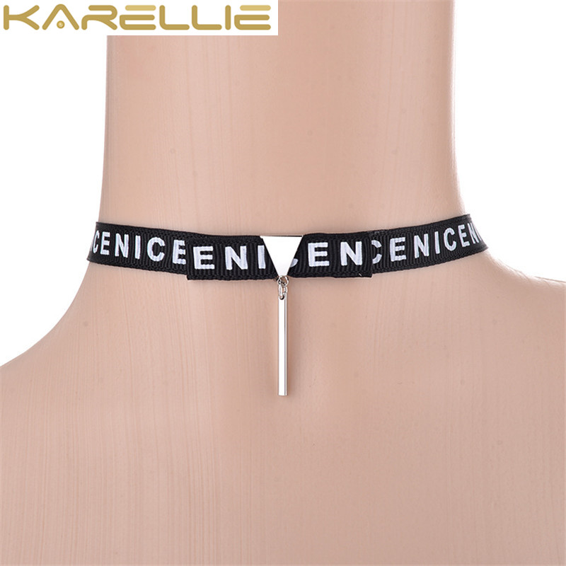 KARELLIE Hot Female Choker Fashion Trendy Cloth Character Short Clavicle Chain Collar Necklaces for Women