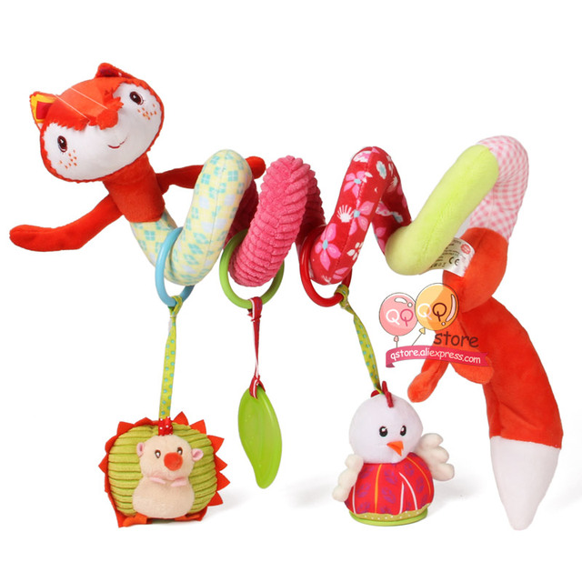 Happy Monkey Cartoon Animals Activity Spiral Baby Stroller Car Seat ...