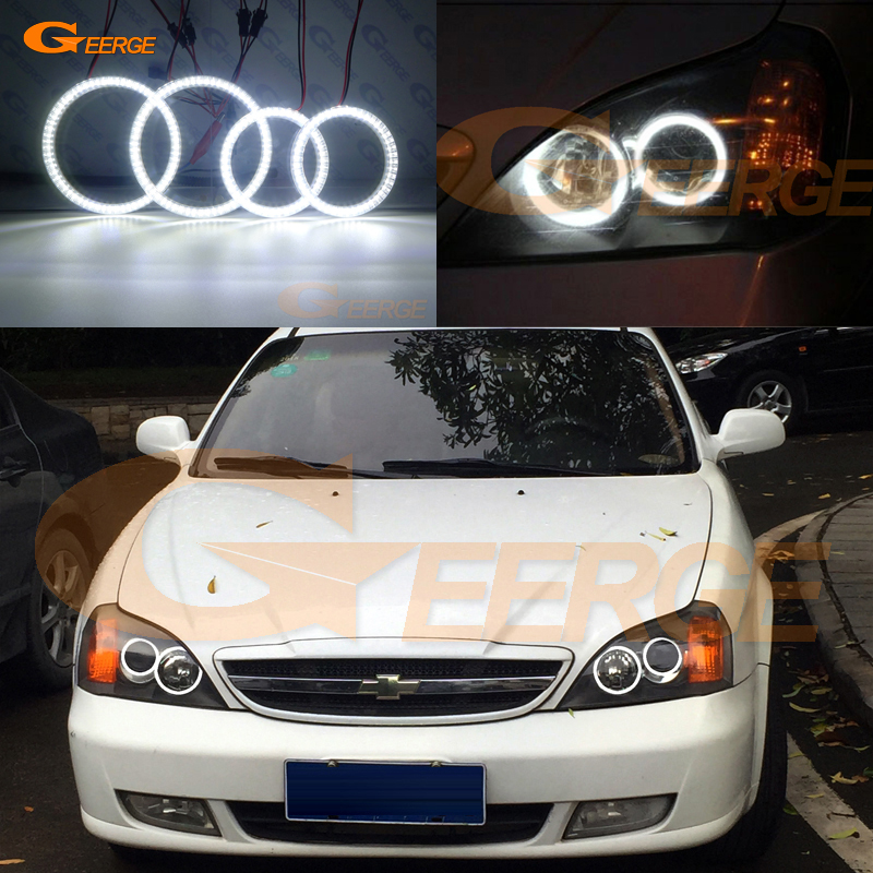 For Chevrolet Epica 2004 2005 2006 smd led Angel Eyes kit Excellent Ultra bright illumination DRL for bmw e46 cabrio coupe 325ci 330ci 2004 2005 2006 facelift excellent ultra bright illumination smd led angel eyes kit drl
