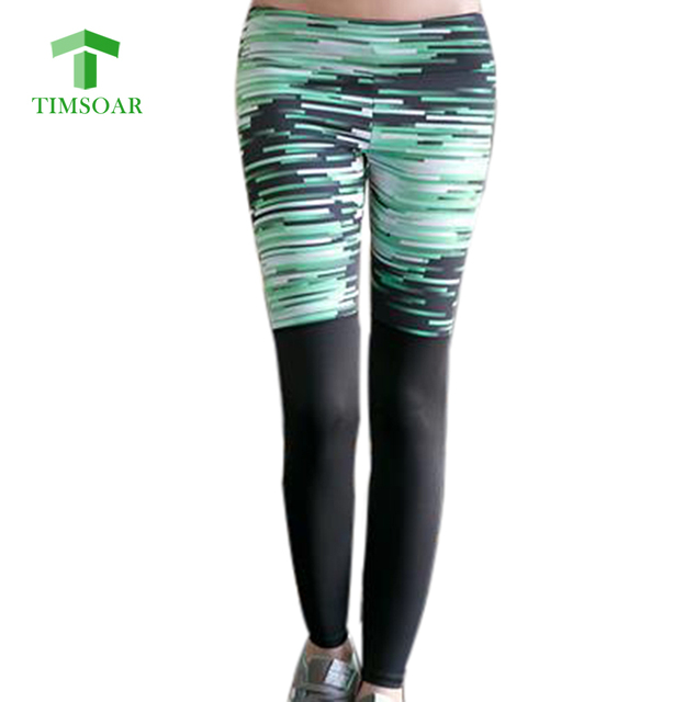 a5b653720f43a Timsoar Tie Dye Yoga Pants Running Bodybuilding Sport Printing Ninth Pants  For Ladie Tight Sexy Slim Pants For Women