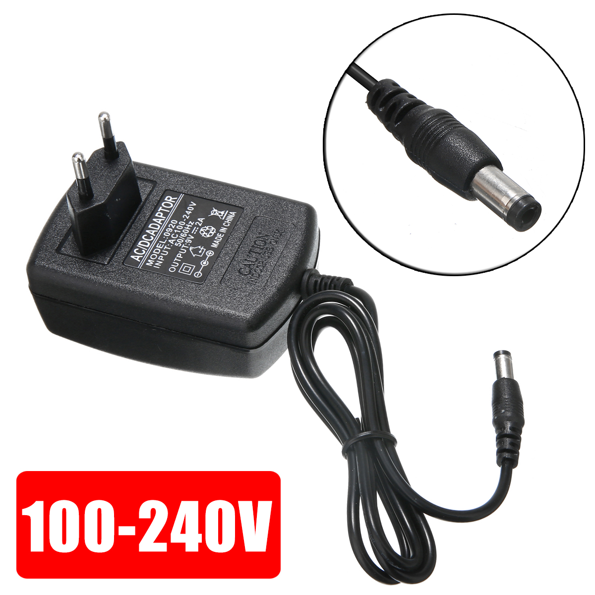 EU Plug <font><b>Adapter</b></font> AC 100-240V To DC <font><b>9V</b></font> <font><b>2A</b></font> Converter <font><b>power</b></font> <font><b>Adapter</b></font> <font><b>Power</b></font> Supply Charger Connector 2.1*5.5mm image