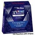Whitestrips de la cresta de Efectos Profesionales 3D LUXE 10 Bolsas (20 Tiras) Liquidación hasta Noviembre 11