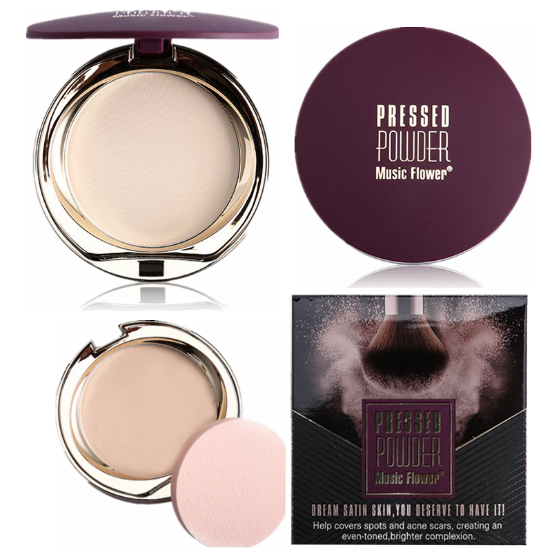 Face Makeup Pressed Powder Oil-control Whitening Waterproof Natural Mineral Professional Concealer Foundation Compact Powder