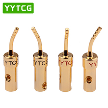 цена на YYTCG 4PCS/lot 2MM Speaker Terminals Wire Pin Plug Screw Lock Cable Wire Adapter With Rubber Covers Set Banana Plugs Connectors