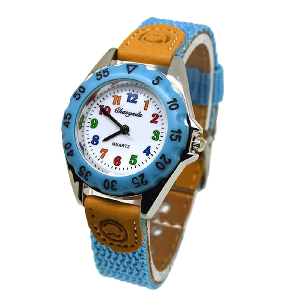 Cute Boys Girls Colorful Quartz Watch Kids Children Sport Casual Watch Fabric Strap Student Time Party Clock Wristwatch Gifts