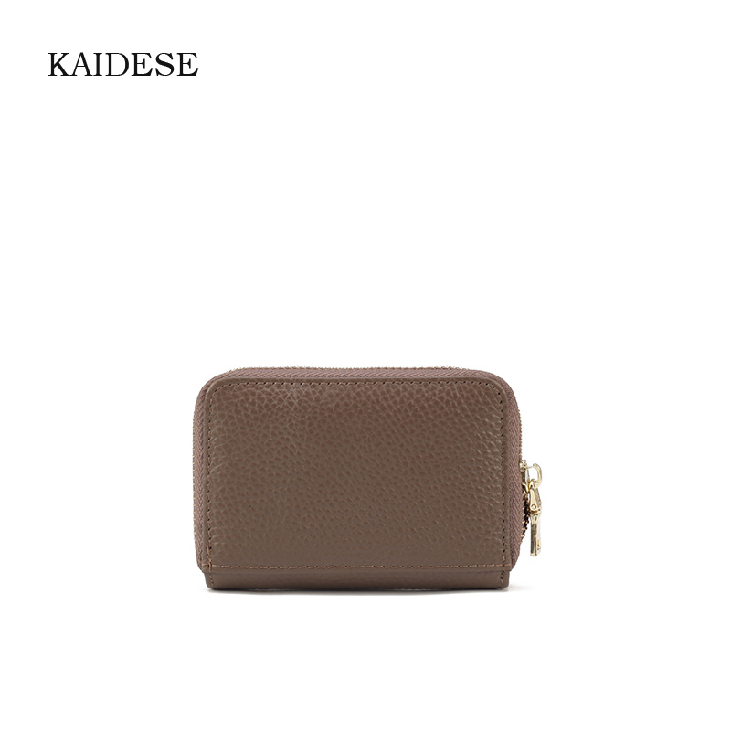 KAIDESE card bag ladies leather leisure new pure color first layer of cow leather small change card bag mail