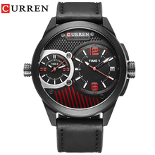 Luxury Brand CURREN Fashion Multiple Time Zone Business Men Watches Ca
