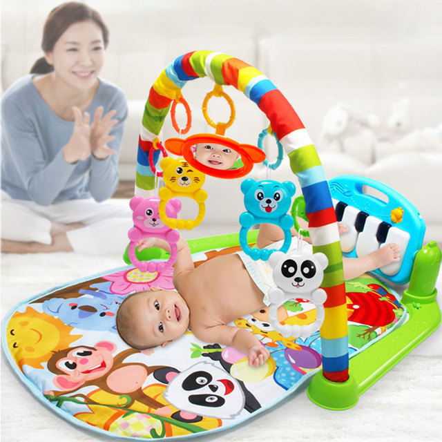 Kids Educational Puzzle Carpet Baby Play Mat With Piano Keyboard And Cute Animal Playmat Baby Gym Crawling Activity Mat Toy