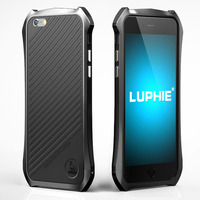 Luphie Batman Series Metal Aluminum Frame PU Leather Back Bumper Phone Cases For Iphone 5 5S