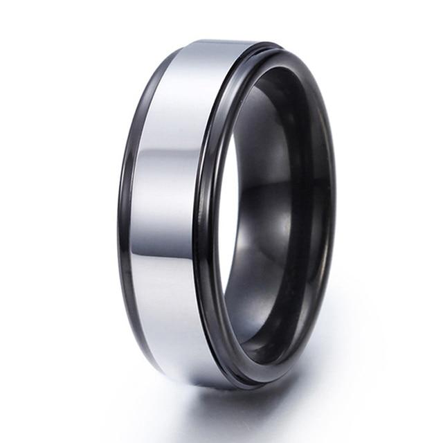 7mm Two Tone Tungsten Ring - Size X tyA2PqMwCk