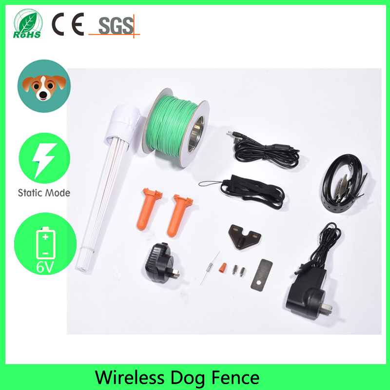 wireless dog fence for home and field usage with external battery 6vchina mainland