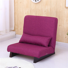 Floor Foldable Single Sofa Reclining Modern Fabric Japanese Sofa Furniture Lounge Recliner Living Room Occasional Accent Chair(China)