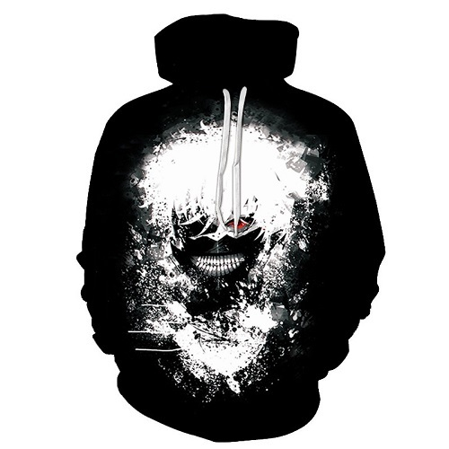 The New Loose Hoodie, The Tokyo Ghouls, 3 D Digital Printed Hoodie And Hooded Man S 6xl.  by Zootop Bear