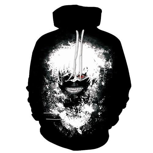 The New Loose Hoodie, The Tokyo Ghouls, 3 D Digital Printed Hoodie And Hooded Man S 6xl.  by Zootop Bear