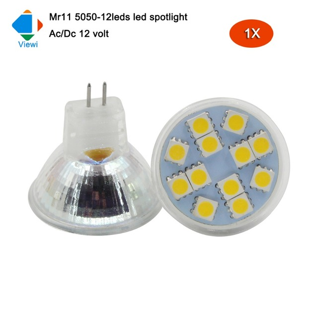 viewi 1x mini spotlight led 12v bulb lights super bright Mr11 Ac/Dc ...