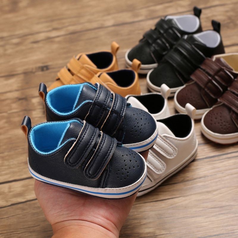 Toddler Shoes Baby-Boys Sneakers Soft-Soled Anti-Slip Autumn PU