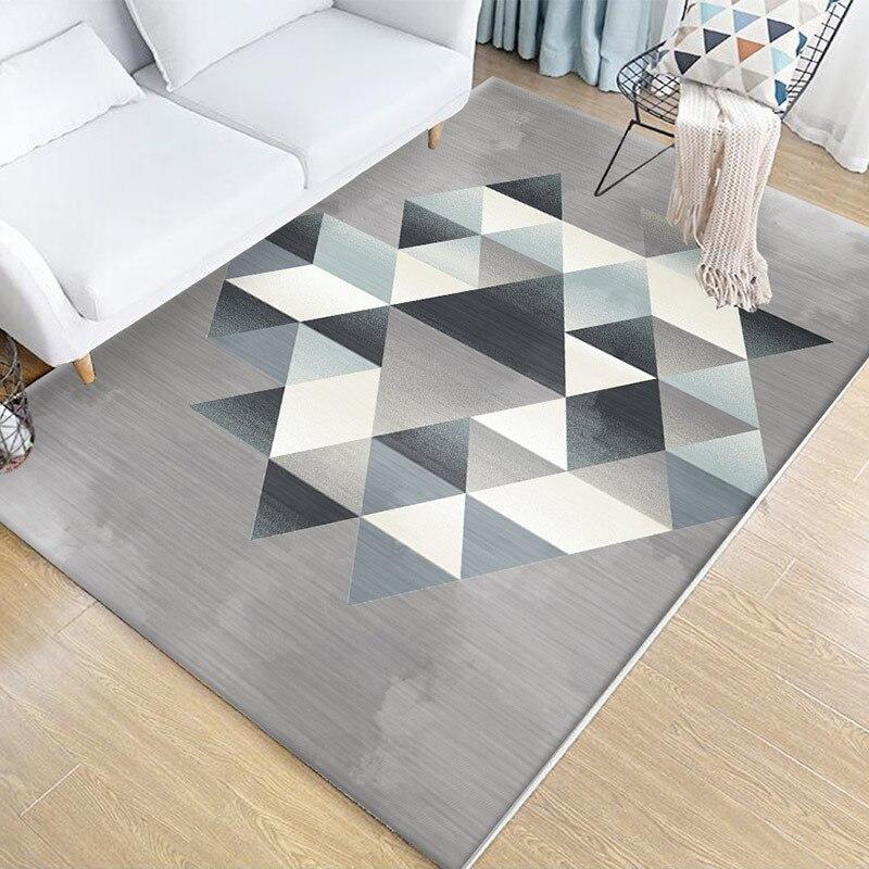 Tapis de style minimaliste nordique pour salon moderne géométrique canapé table basse tapis chambre chevet maison tapis et tapis
