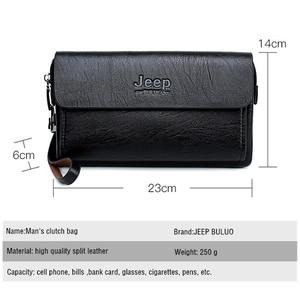 Image 2 - ジープbuluo有名なブランド男性のハンドバッグ日クラッチバッグ高級電話とペン高品質革の財布をこぼしハンドバッグ