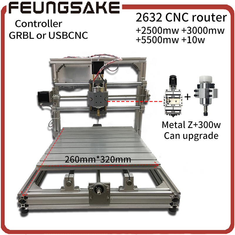 CNC Wood Router,wood cutter 26*32cm+support laser engrave offline GRBL Diy CNC machine,USBCNC controller,3Axis pcb Mill machine