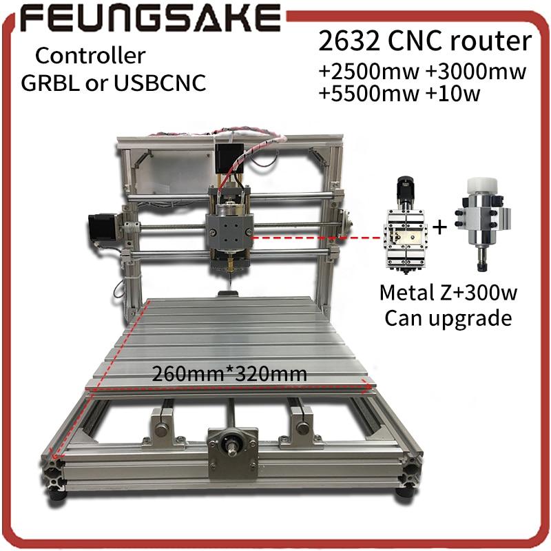 цена на CNC Wood Router,wood cutter 26*32cm+support laser engrave offline GRBL Diy CNC machine,USBCNC controller,3Axis pcb Mill machine