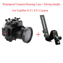 Meikon 40m/130ft Waterproof Diving Camera Housing Case For Fujifilm X-T1 XT1 Camera,Underwater Camera Bags Case + Diving handle