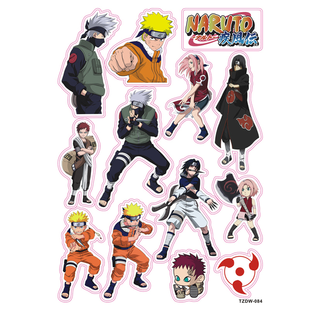 Hot 13 Pcs Lot Kartun Fashion Keren Naruto Diy Stiker