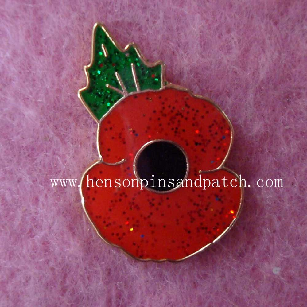 US $126 32 |Custom cheap iron soft enamel with epoxy poppy pins/metal  glitter lapel pins badge-in Badges from Home & Garden on Aliexpress com |