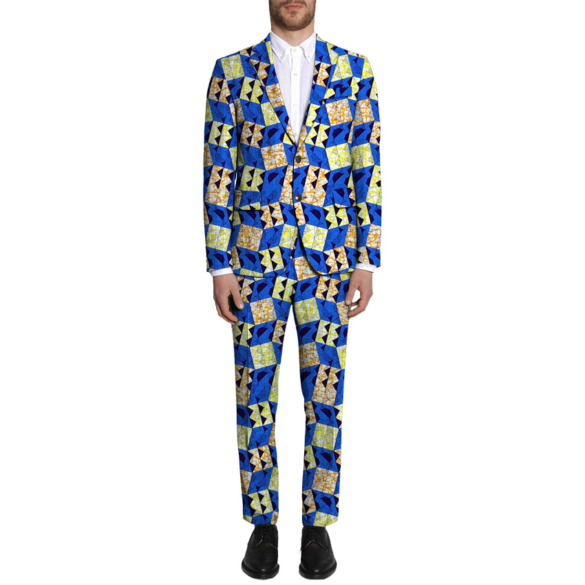 Pant Suits African Print Blazer And Pant 2Pieces Sets Men Blazers African Suit Jacket Festive For Party African Men Clothing
