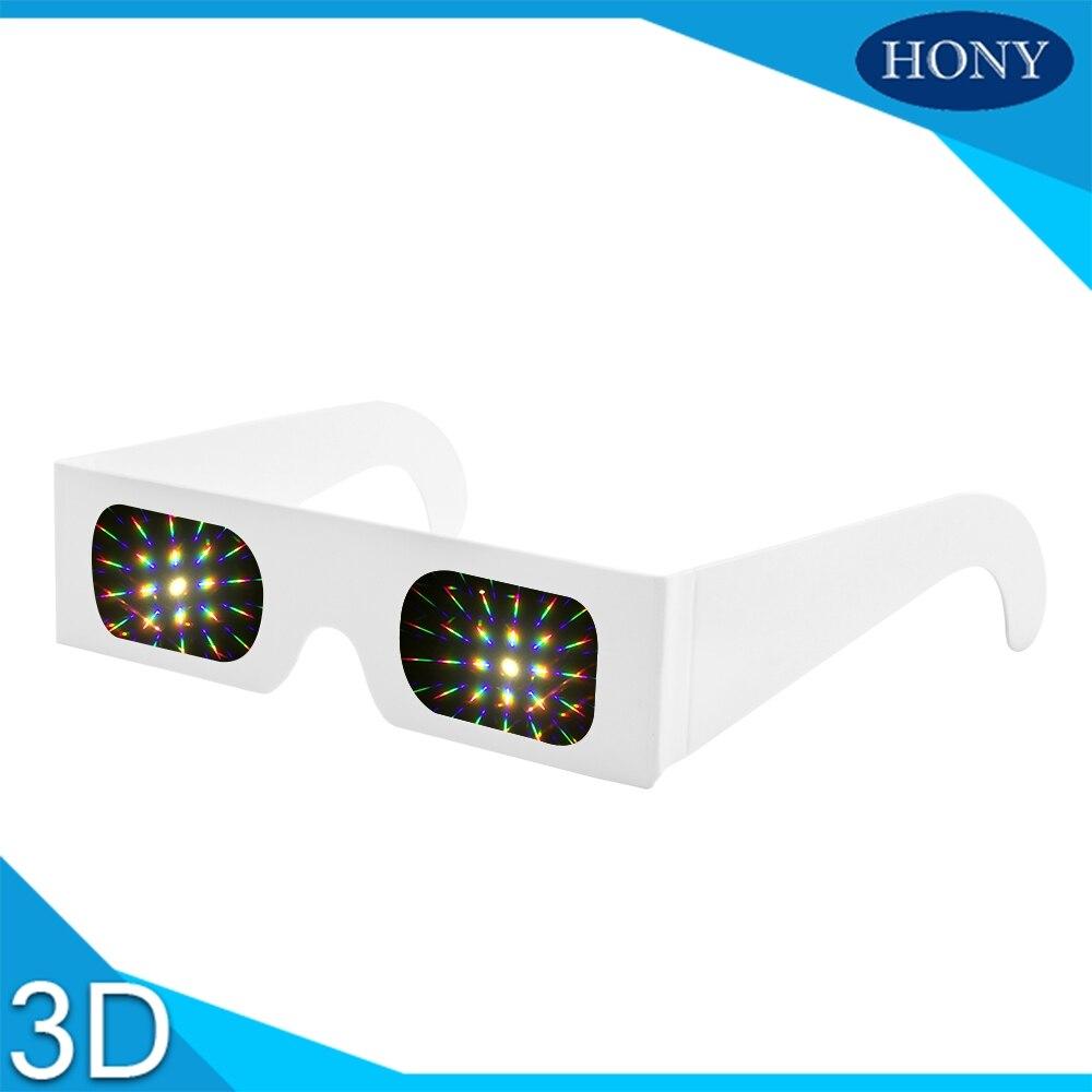 Consumer Electronics 100pcs White Paper 3d Raves Prism 13500 Lines/spiral Light Diffraction Fireworks Glasses For Laser Shows,raves&concerts Clubs Vr/ar Devices