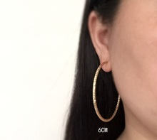 Embossed without pierced earrings exaggerated fashion big circle round earrings without pierced ears big circle ear clip