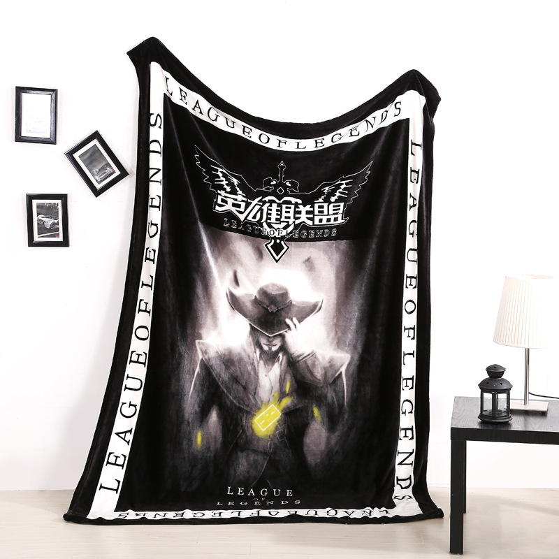 Bedding Game characters Plush blanket quilt Student Bed sheets Summer Cool Air Conditioning Quilt Coral Fleece bed linings #21 биотуалет thetford porta potti qube 335 цвет белый