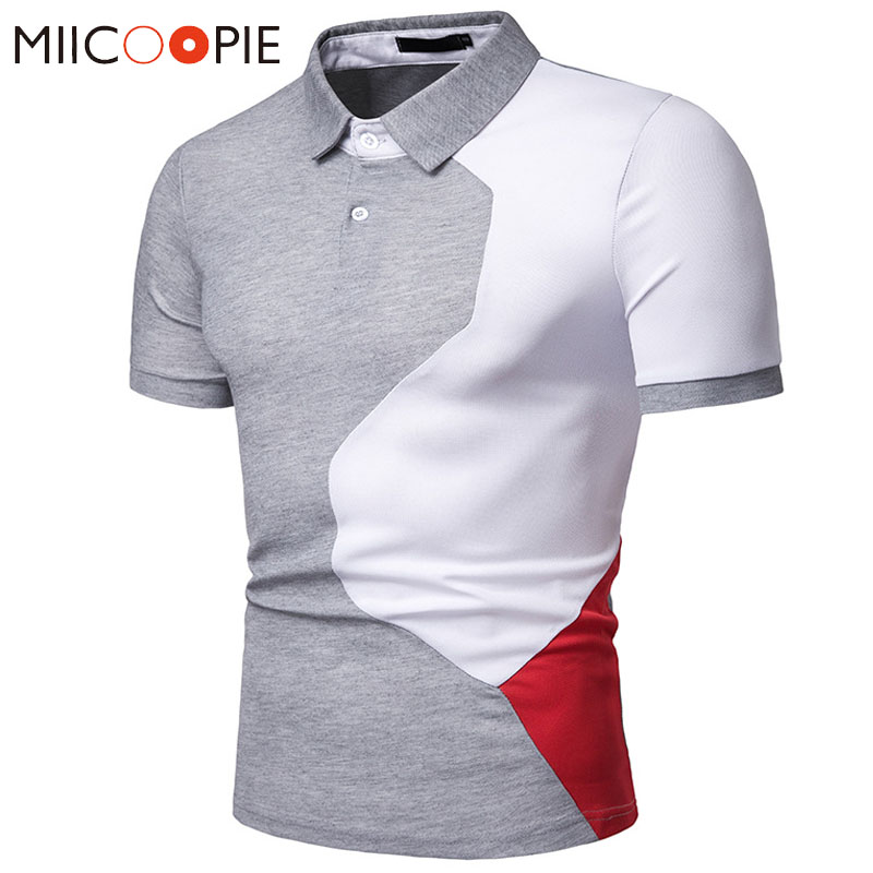 Men   Polo   Shirt New Summer Casual Short Sleeve Male Cotton Patchwork   Polos   Para Hombre Slim Fit Camisa   Polo   Shirt Mens Clothing