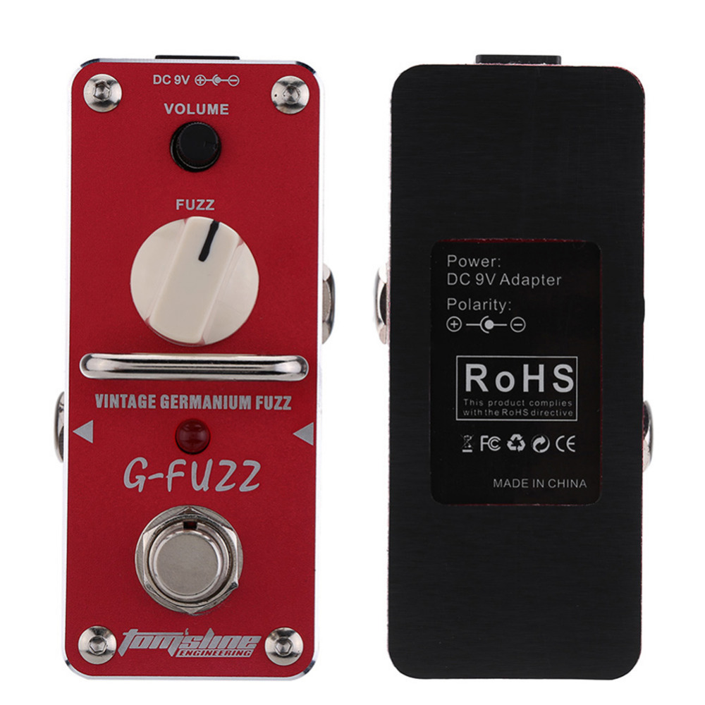 все цены на Tomsline AGF-3 Guitar Effect Pedal G-FUZZ Vintage Germanium Fuzz Guitar Pedal Mini Analogue Guitar Effect Pedal with True Bypass онлайн