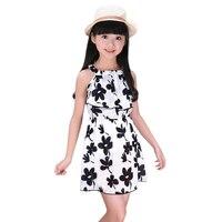 Flower Girls Dress 2017 Nowa Moda Lato Dzieci Odzież Off-The-Shoulder Nastolatki Malucha Dla Dzieci Sukienki dla Dziewczynek bal Przebierańców