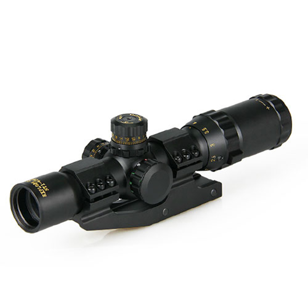 1-4X28 Tactical Optical Rifle Scope Sight Hunting Accessories Riflescope Gun Monocular Shooting Telescope Blue Red Green Mli Dot 1 5 4 28 rifle scope rifle scope shooting hunting pp1 0165