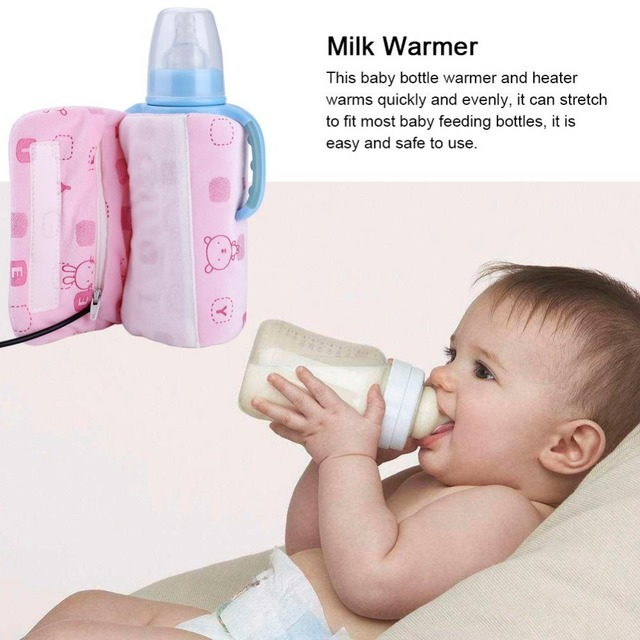New USB Milk Water Warmer Insulated Bag Portable Baby Bottle Travel Cup Cover Warmer Heater Bag For Travel Stroller High Quality
