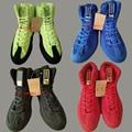 4 colores Zapatos de Lucha Ringer Swaps Infligir Entrenadores Zapatos de Lucha Libre Competencia Buenas Condiciones de boxeo entrenamiento calzado